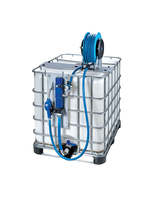 fuelgear bluequip air operated ibc kit hose reel