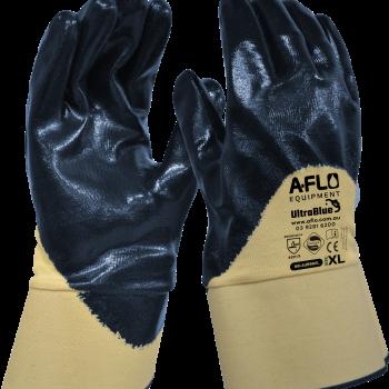 UltraBlue Safety Cuff Blue Nitrile 3/4 Dipped (L & XL)