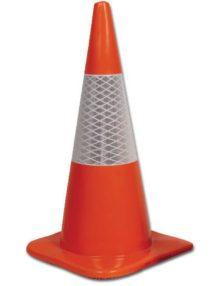 Orange Hi-Vis Reflective Cone